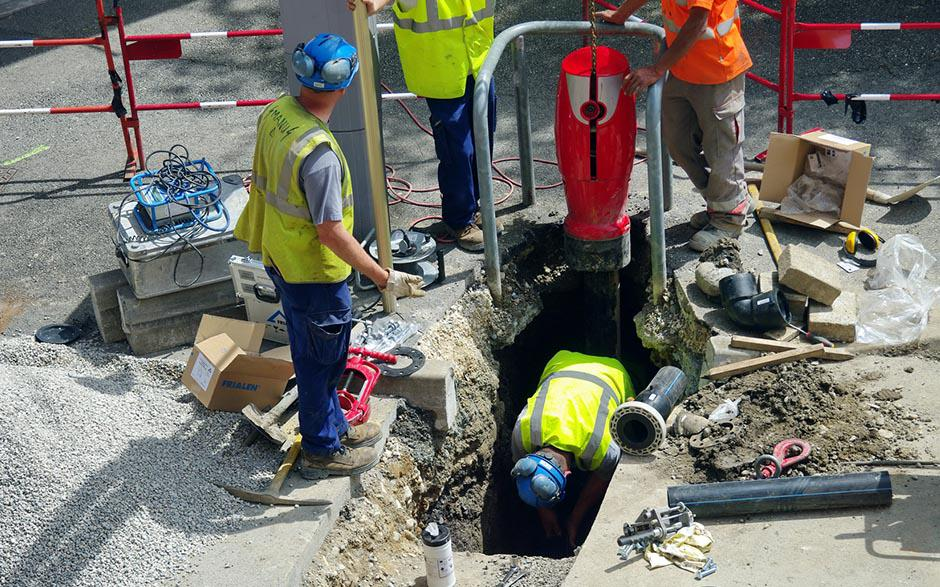 canalisation egout Le Blanc-Mesnil